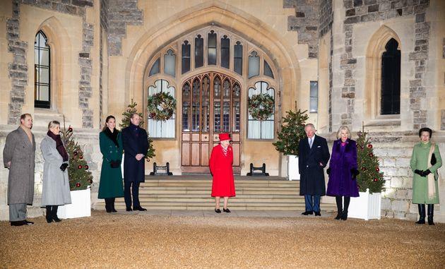 The royals reunited at Windsor Castle in