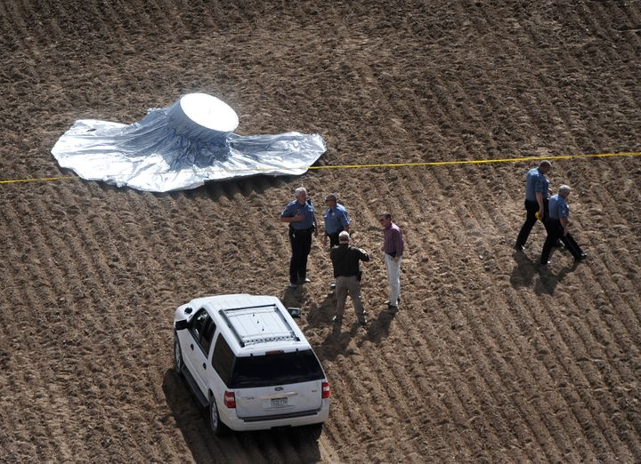 The balloon landed in Weld County, Colorado, after a furious chase by authorities that captivated the nation's attention over