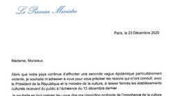 La lettre de Castex