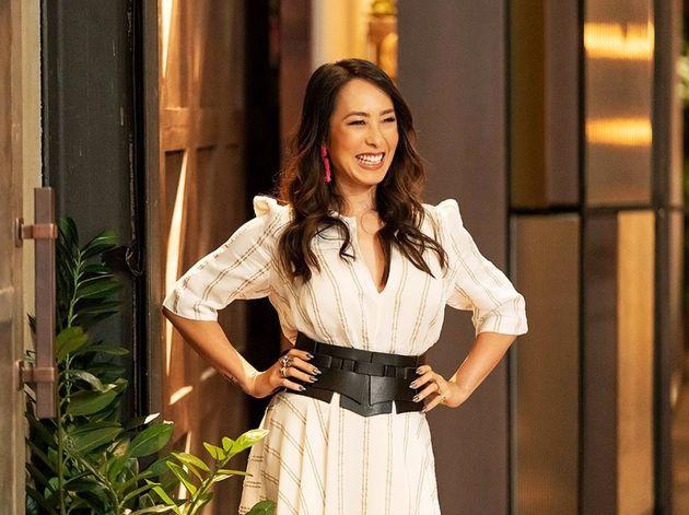 Melissa Leong on the set of 'MasterChef