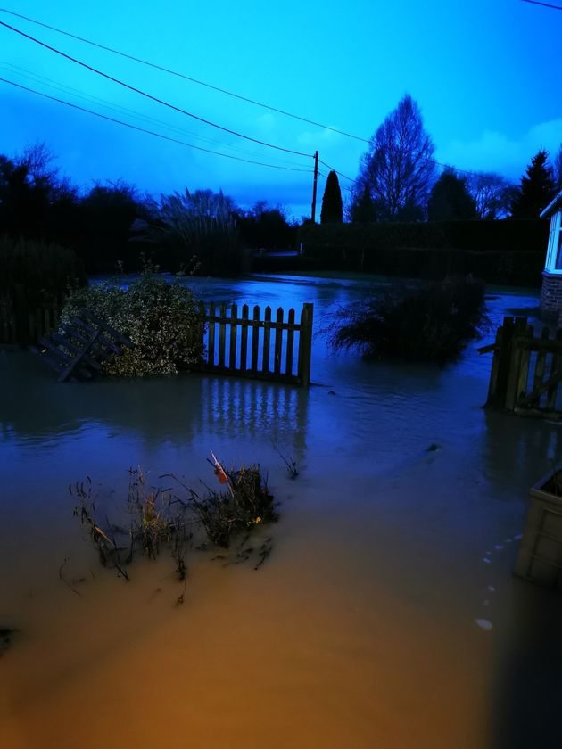 Handout photo courtesy of Peter Lloyd of flooding at his home in Peterborough, Cambridgeshire after heavy...