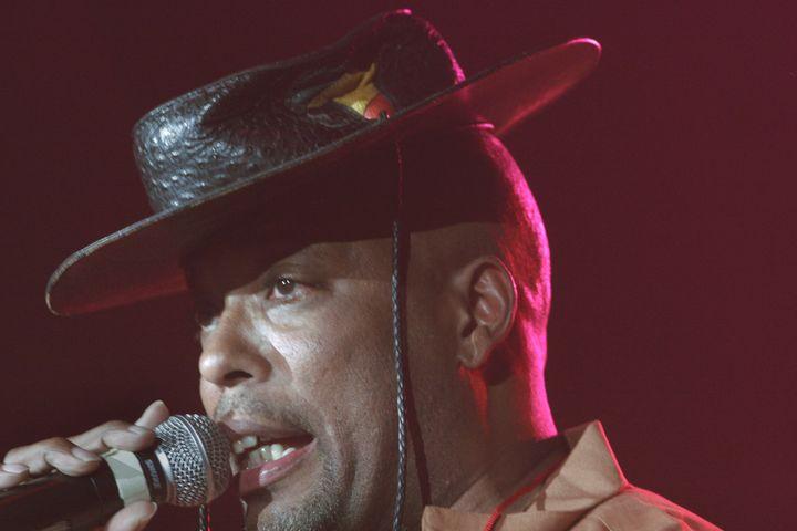 John Fletcher raps during a 2006 performance.