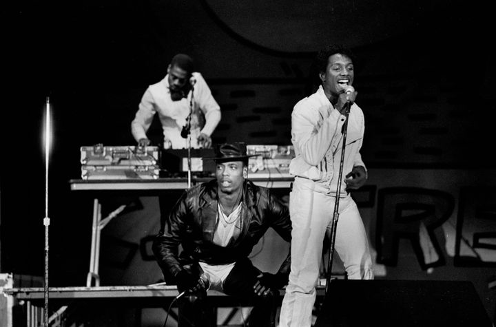 "John ""Ecstacy"" Fletcher, center in the hat, performs with Whodini during a 1984 concert in Chicago."