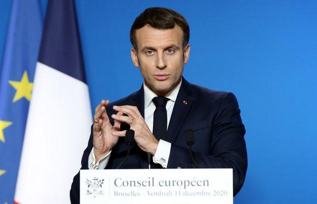 Emmanuel Macron lors du sommet européen à Bruxelles vendredi 11 décembre