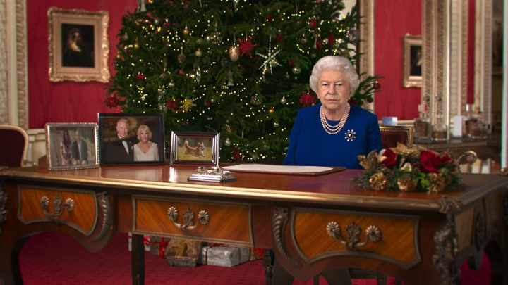 "The fake queen delivered her ""Alternative Christmas Message"" for 2020 in a still shared by Channel 4."