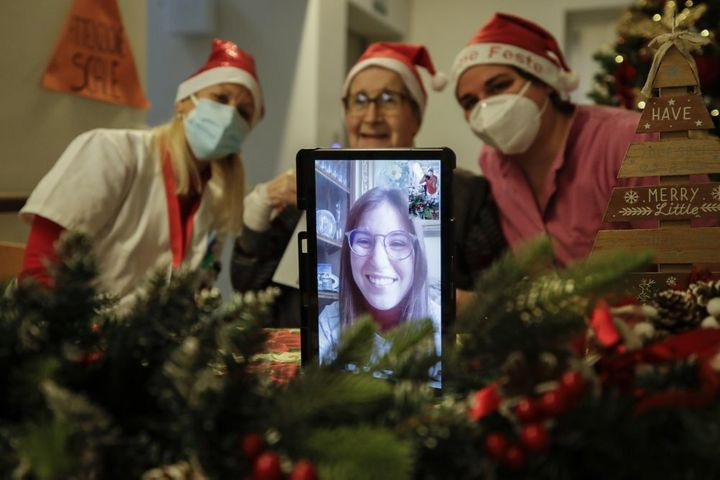"""The holiday spirit is descending on the Zanchi nursing home thanks to the so-called """"grandchildren of Santa Claus,"""" people wh"""
