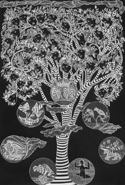 Las líneas del destino. Tarot-Cards. Siete de Oros, de Marina Vargas, 2016. Portada de la publicación.Pintura...
