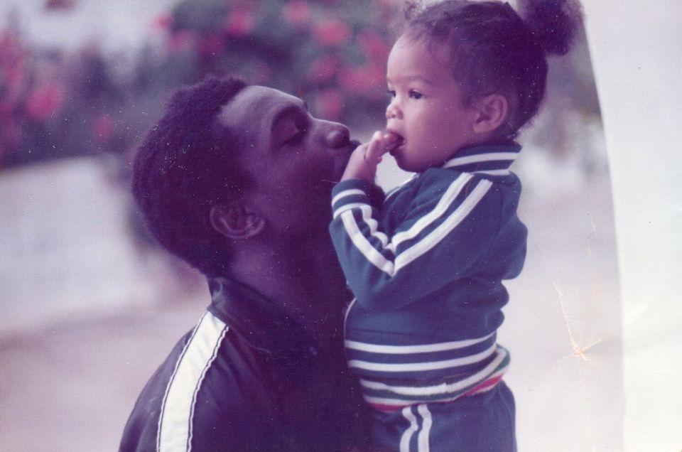 Michael Braithwaite and his daughter in happier
