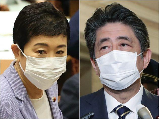 辻元清美議員、安倍晋三前首相
