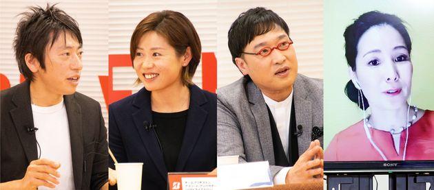 (写真左から)セッション3に登場した有安諒平さん(パラローイング強化指定選手 東急イーライフデザイン所属)、秦由加子さん(チームブリヂストン