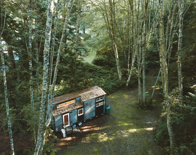 A finished 'Coastal Escape' tiny home, built in 2018 by Sunshine Tiny Homes in Gibsons, B.C., is shown...