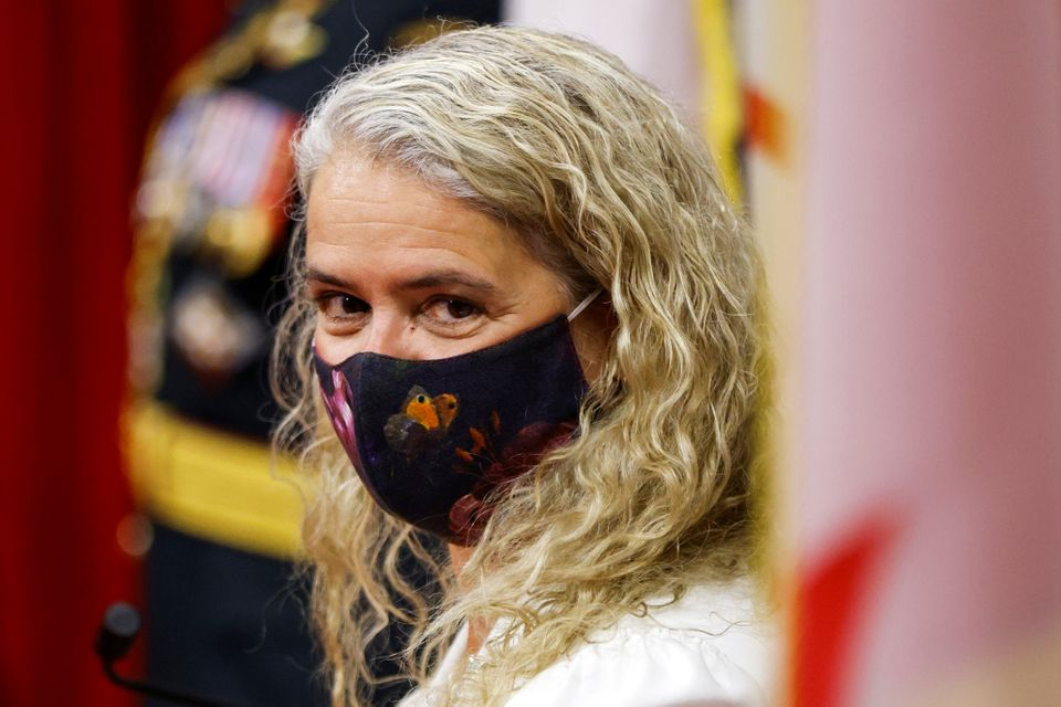 Gov. Gen. Julie Payette prepares to deliver the Throne Speech in the Senate, as parliament prepares to...