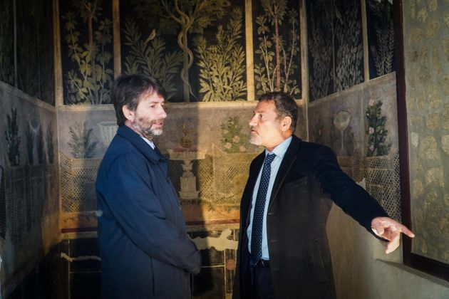 Foto d'archivio. Il soprintendente Massimo Osanna ed il ministro ai beni culturali Dario Franceschini...