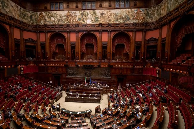 ROME, ITALY - OCTOBER 22: A general view of the Camera dei Deputati (Chamber of Deputies) during the...