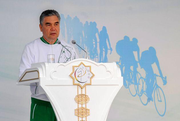 Le président turkmène, ici à Achgabat au Turkménistan, le 3 juin