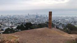 Un monolithe est aussi apparu à San Francisco, mais celui-ci était