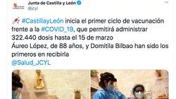 Castilla y León comparte fotos de la primera vacunación y muchos no dan crédito a lo que se ve en