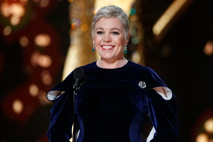 Olivia Colman at the Oscars earlier this year