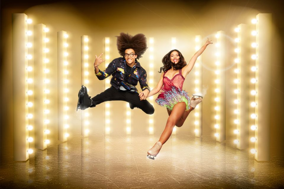 Perri with his Dancing On Ice skating partner Vanessa