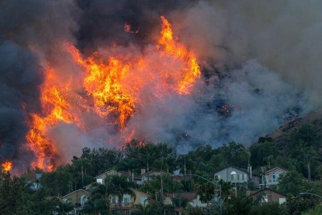 Incendio en California el 27 de