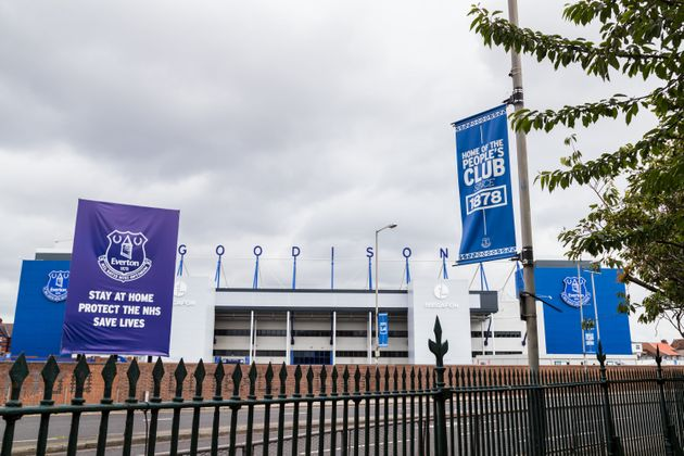 Goodison Park stadium from the edge of Stanley
