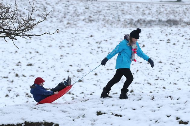 Snow Set To Fall Across Much Of UK As Cold Snap To Continue Into New Year