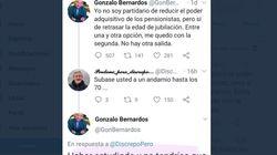 El economista Gonzalo Bernardos pide perdón y borra la respuesta que le dio a este