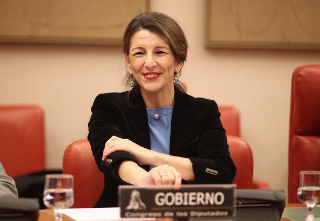 Yolanda Díaz, durante una Comisión de Empleo en el Congreso, el pasado 21 de