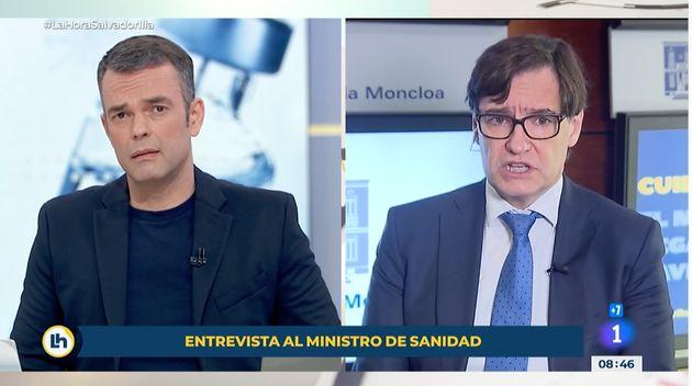 Salvador Illa, durante su entrevista en 'La Hora de La