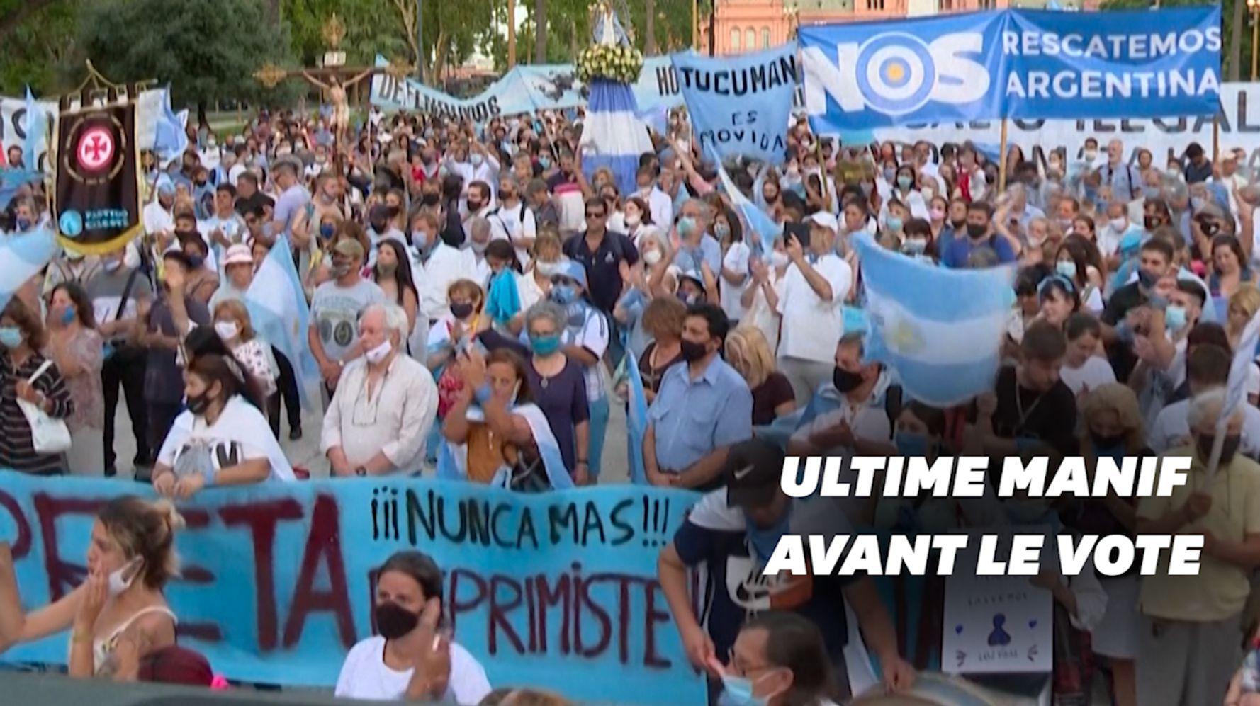 En Argentine, les anti-IVG se mobilisent avant un vote capital au Sénat