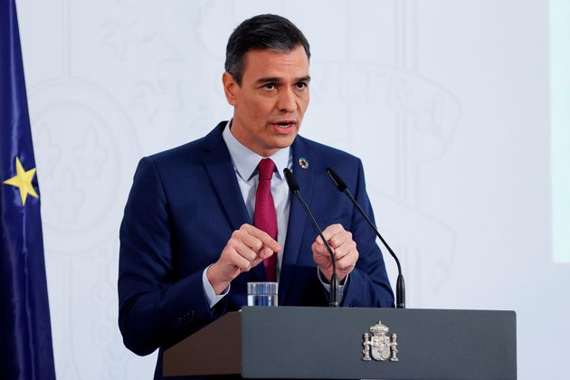 El presidente del Gobierno, Pedro Sánchez, este martes 29 de diciembre en