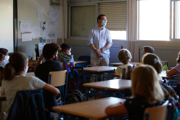 Primer día de escuela en Granada, el 10 de septiembre de