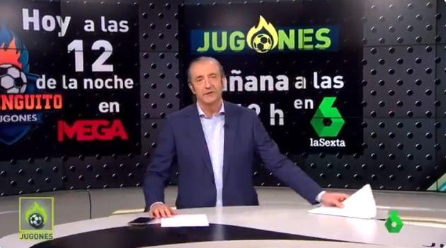 Josep Pedrerol en 'Jugones' este