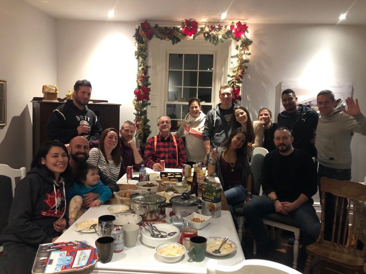 MPP Randy Hillier posted this photo of a gathering on Twitter on Dec. 27.