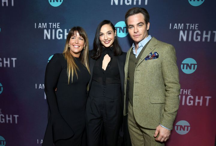 Patty Jenkins, Gadot, and Chris Pine at the Los Angeles premiere of TNT's