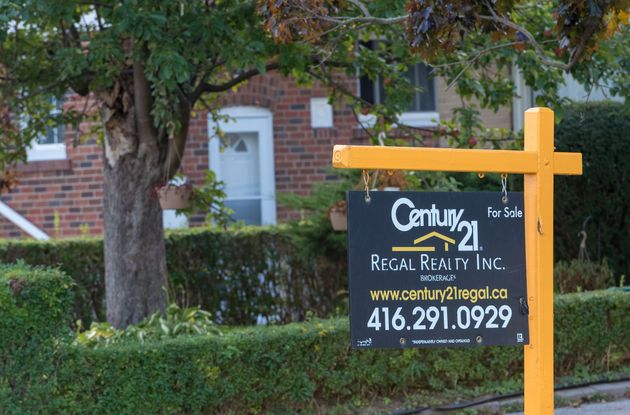 A Century 21 for sale sign in Toronto, Oct. 12,