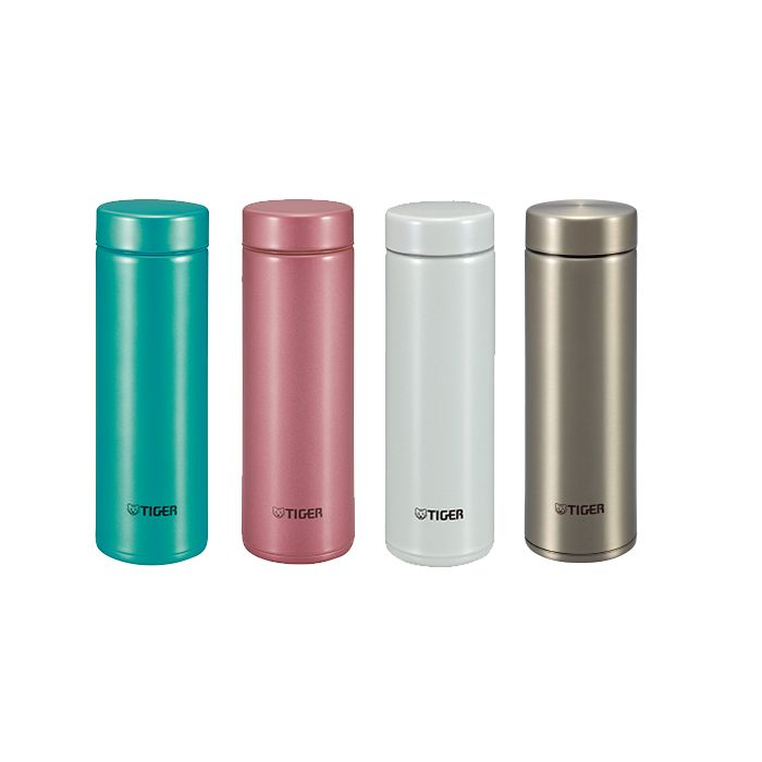 Tiger Ultra Light Stainless Steel Bottle comes in four colours.