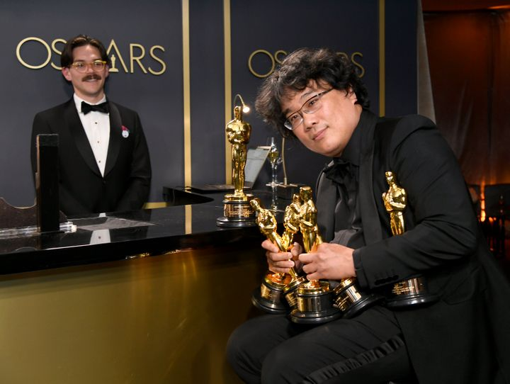 Writer-director Bong Joon-ho attends the 92nd Annual Academy Awards Governors Ball on Feb. 9, 2020.