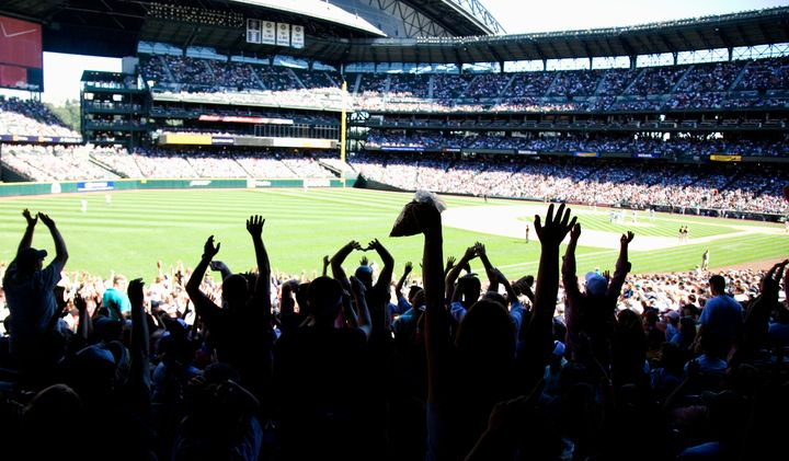 """Fans sorely miss the energy of attending a baseball game and participating in silly rituals like """"the wave."""""""