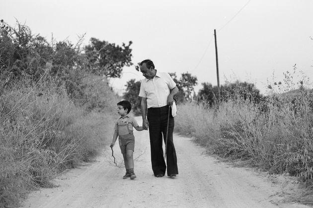 Leonardo Sciascia e il nipote Fabrizio