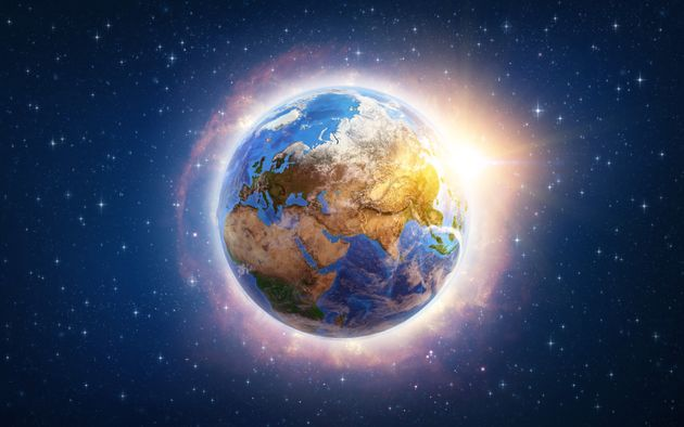 Global warming on Planet Earth illustrated from space. 3D illustration - Elements of this image furnished...