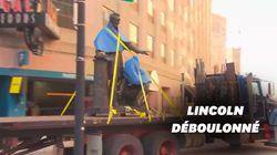 Cette statue de Lincoln et d'un esclave à genoux retirée à