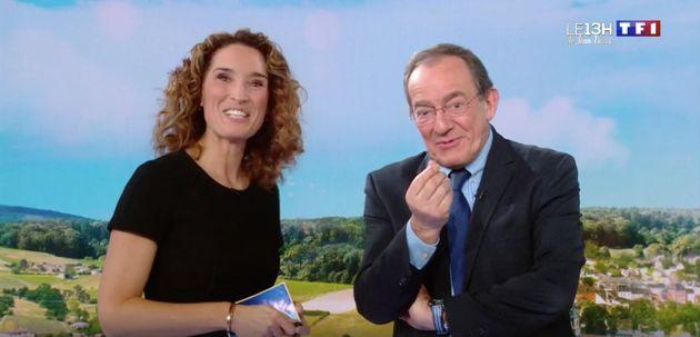 Marie-Sophie Lacarrau et Jean-Pierre Pernaut au JT de 13H du 18 décembre