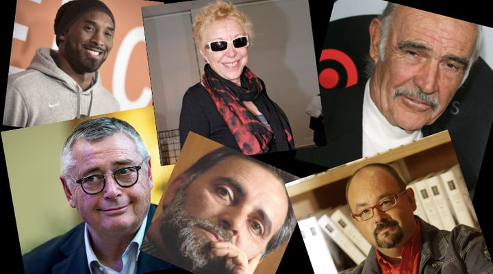 Kobe Bryant, Rosa Mª Sardá, Sean Connery, Michael Robinson, Julio Anguita y Carlos Ruiz Zafón.