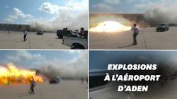 Une double explosion à l'aéroport d'Aden au Yémen fait au moins 26
