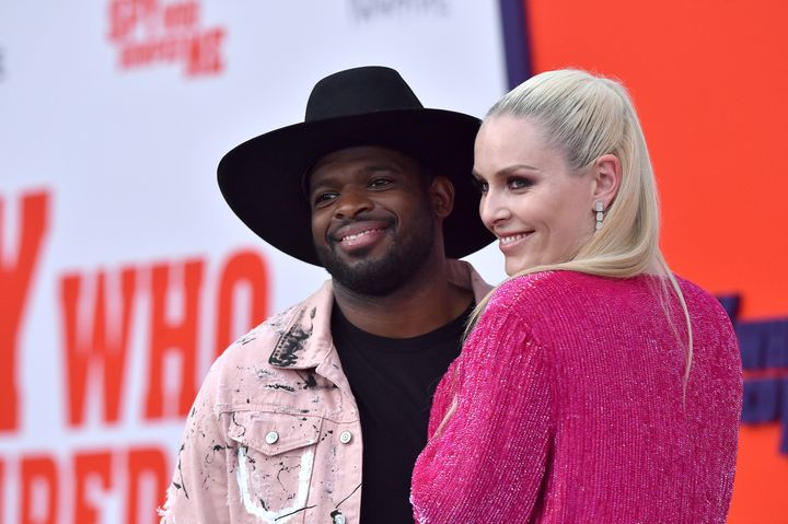 P.K. Subban and Lindsey Vonn attend a movie premiere on July 25, 2018, in Los Angeles, California.