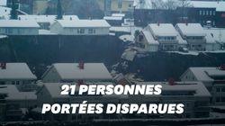 En Norvège, un énorme glissement de terrain fait plusieurs blessés et des
