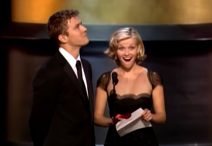 Reese Witherspoon's shocked face just after the comment.