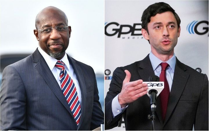 Rev. Raphael Warnock (left) and Jon Ossoff are the two Democratic candidates for Georgia's Senate seats. Their victories in t