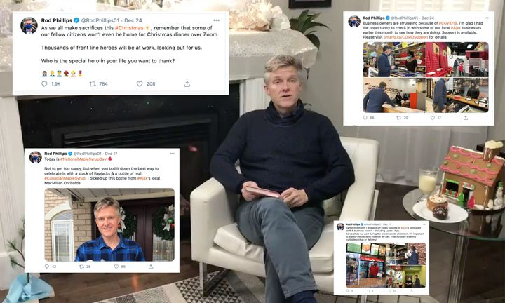 While he was vacationing abroad, Ontario Finance Minister Rob Phillips' Twitter account made it look like he was enjoying a Canadian Christmas at home.